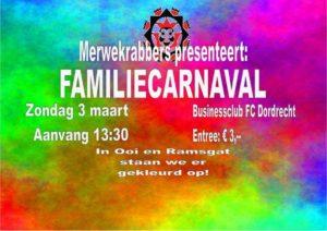 Familiecarnaval Merwekrabbers @ FC Dordrecht