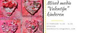 """Mixed Media """"Valentijn"""" voor kinderen @ Speelotheek Pip & Zo"""